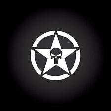The Punisher Star Auto Aufkleber Sticker Decal JDM Totenkopf Skull 9,0 x 9,0 cm