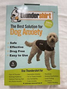 Thundershirt Dog Anxiety Calming Treatment Large 41-64 lbs  Gray, NIB