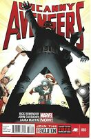 UNCANNY AVENGERS #3 MARVEL COMICS 2013 BAGGED AND BOARDED