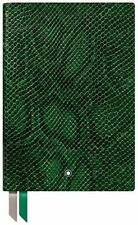 Montblanc Fine Stationery Python Print Peacock Green Leather Notebook 119520