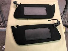 1995-1999 cadillac deville black cloth pair power sun visors with clips OEM 96 9