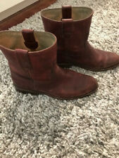 FRYE Short Bootie Cognac/Brown Shaft Size 8.5