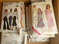 Lot of (10) Retro 80's/90's Sewing Patterns ~ MOSTLY UNCUT FACTORY FOLDED ~ NICE