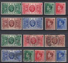 GB ☀ KGV King George V. 1935 Jubilee & KEVIII 1936 ☀ 16v MH / MNH & used