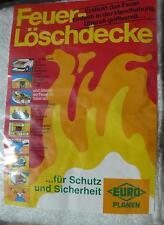 Feuerlöschdecke Brandschutzdecke 80x100 cm Löschdecke Brandschutz Feuerschutz