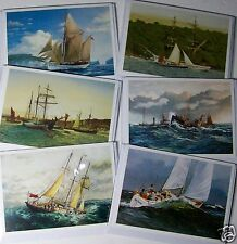BLANK CARDS, FINE ART 'SHIPS', 6 DESIGNS X 6, JUST 26p, WRAPPED (B106