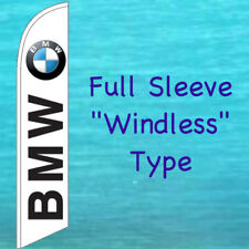 BMW WINDLESS BANNER FLAG Tall Curved Top Advertising Sign Feather Swooper