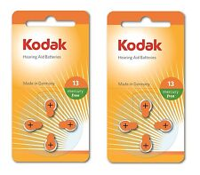 8 Pack Kodak Hearing Aid Battery Size 13 (PR48, K13ZA) 1.45V EXP 2018