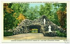 Bellevue / OH Sorrowful Mother Shrine Grotto 1950 Linen