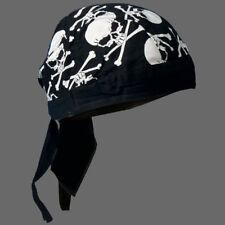 BIKER SKULLS CROSS BONES HEAD WRAP  CAP