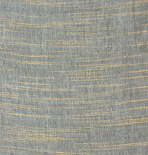 "Ikat, Cotton Homespun. Gray Handwoven Fabric. India, Khadi Handloom. 45"" wide."