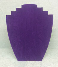 Set di 10 gioielli DISPLAY CARD BUSTI [ B ] viola in pelle scamosciata