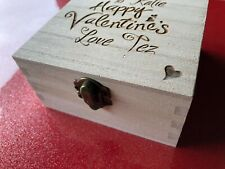 Valentines Engraved Wooden Box - Gorgeous GIFT - Hearts