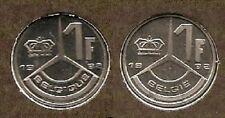 1 frank 1992 fr+vl * uit muntenset * FDC / UNC *