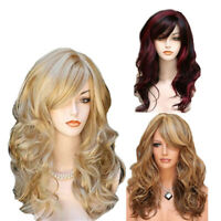 60cm Fashion Synthetic Cosplay Party Wigs Women Full Long Curly Wavy Hair Wig US