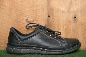 BORN 'Monona' Black Leather Oxfords Comfort Shoes Women's Sz. 9.5 M