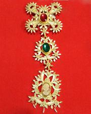 Pendente Su Lasu in filigrana argento dorato imperlato ornamento costume sardo