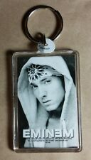 AS-IS EMINEM BANDANA HOODIE B&W UP CLOSE FACE KEY CHAIN KEYCHAIN