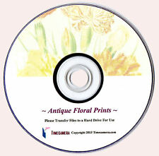 ANTIQUE FLOWER PRINTS - Restored High Res Large Print-Maker Botanical Images DVD