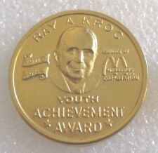 Vintage Ray A. Kroc Founder of McDonald's Youth Achievement Award Pin McDonalds