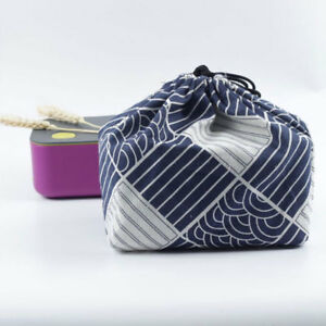 Portable Japanese Style Eco Lunch Box Bento Tote Meal Eating Out Pouch Dang Bags