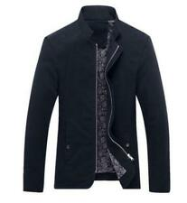 New Men's fashion casual Spring  coats collar Slim Short thin coat BlUE Size S