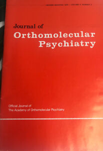 Journal of ORTHOMOLECULAR PSYCHIATRY Second Quarter 1975 Vol 4 #2