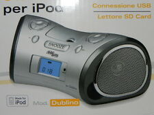 Docking station per iPod lettore SD card USB sveglia Radio  DUBLINO COBRA 10238