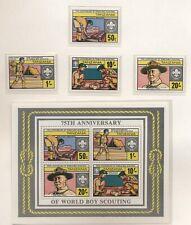 Tanzania 1982 75° Scoutismo serie cpl e BF nuova integra MNH T619