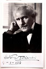 1937 TOSCANINI Real PHOTO POSTCARD Palestine ORCHESTRA Israel PRINTED AUTOGRAPH