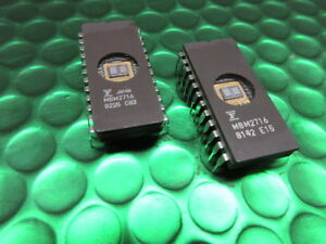 2 x MBM2716 16K Eprom UV Ceramic, M2716 M2716F1, Video, Arcade, Jukebox, £2.98ea