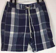 mens j crew board shorts 32 Plaid swim trunks Cotton Blend