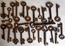 Rusty ornate Skeleton 1800's keys Steampunk 25 pc assortment