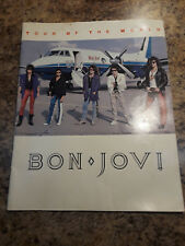 Bon Jovi 1986 Tourbook Slippery When Wet Tour Of The World Complete No Tears