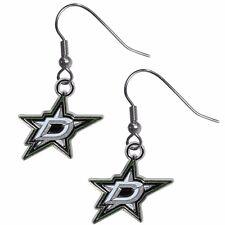 Dallas Stars Dangle Earrings (Chrome) NHL Licensed Hockey Jewelry