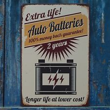 Auto Batteries 2 years Retro Metal Signs Advertising Poster Garage Wall Plaque