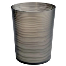 Interdesign Lotus Wastebasket Trash Can, Black/Clear     F2