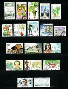Moldova -- 18 diff used commemoratives -- cv $8.15
