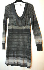 GREY SILVER LADIES PARTY JUMPER DRESS BODYCON SIZE M OASIS