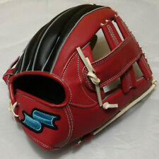 "SSK God Nine 12"" Cross Web Red/Black Infield Right-Handed Thrower Baseball Glove"