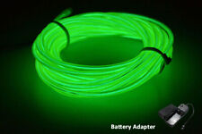 5M  Neon LED Light Glow EL Wire String Strip Rope  Dance Party GREEN BATTERY