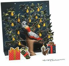 Partridge in a Pear Tree Christmas Card 3D Pop-Up Greeting Card Up With Paper