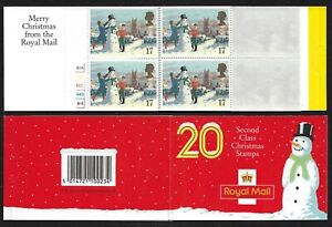 GB Stamps: Decimal Christmas Barcode Booklet LX1 with Cylinder Numbers