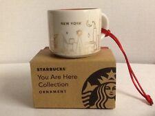 Starbucks New York Christmas Ornament You Are Here 2014 Mini Mug Demitasse