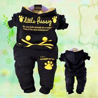 Bébé unisexe y 2PC ensembles sport style cat pullover à capuche taille 1-4 ans