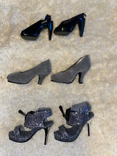 Tyler Wentworth doll shoes, misc heels! Glitter shoes, black heels!
