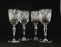 Waterford Crystal Marquis Coll AVALON Water Goblets Glasses ~ Set of 4