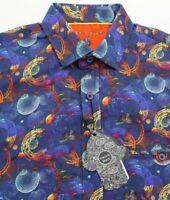 Luchiano Visconti Shirt Mens Small Psychedelic Circles Print Ltd Ed S/S NWT