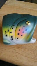Rainbow Trout Koozie beer drink Cooler fish fisherman rubber double insulated gc