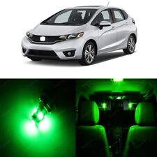 8 x Green LED Lights Interior Package Deal For Honda Fit 2015 - 2017 + PRY TOOL